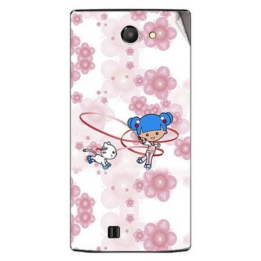 Snooky 41667 Digital Print Mobile Skin Sticker For Lava Iris 456 - White