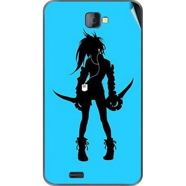 Snooky 41676 Digital Print Mobile Skin Sticker For Lava Iris 502 - Blue