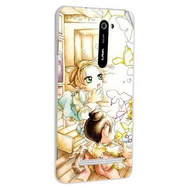 Snooky 41683 Digital Print Mobile Skin Sticker For Lava Iris 503 - White