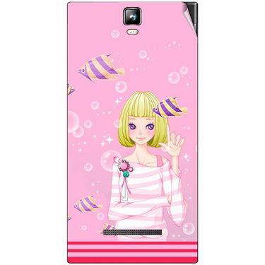 Snooky 41694 Digital Print Mobile Skin Sticker For Lava Iris 504Q Plus - Pink
