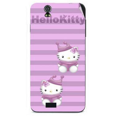 Snooky 41721 Digital Print Mobile Skin Sticker For Lava Iris selfie 50 - Pink