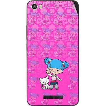 Snooky 41738 Digital Print Mobile Skin Sticker For Lava Iris X8 - Pink
