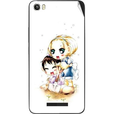 Snooky 41740 Digital Print Mobile Skin Sticker For Lava Iris X8 - White