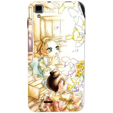 Snooky 41767 Digital Print Mobile Skin Sticker For Lava Iris 405Plus - White