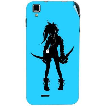 Snooky 41772 Digital Print Mobile Skin Sticker For Lava Iris 405Plus - Blue