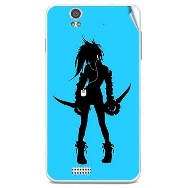 Snooky 41808 Digital Print Mobile Skin Sticker For Lava Iris X5 - Blue