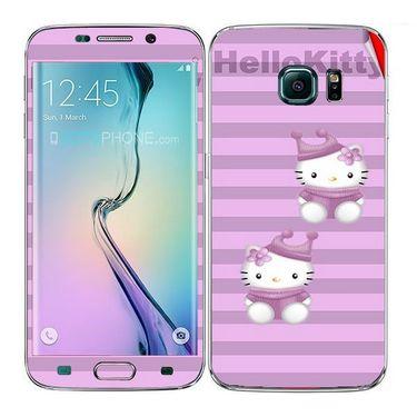 Snooky 41864 Digital Print Mobile Skin Sticker For Samsung Galaxy S6 Edge - Pink