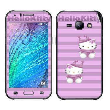 Snooky 41886 Digital Print Mobile Skin Sticker For Samsung Galaxy J1 - Pink