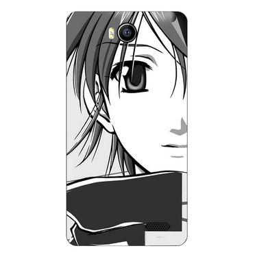 Snooky 41911 Digital Print Mobile Skin Sticker For Intex Aqua 4.5e - Grey