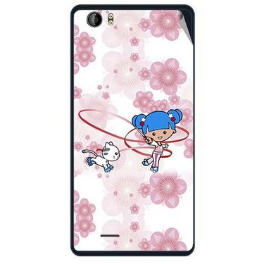 Snooky 41957 Digital Print Mobile Skin Sticker For Intex Aqua Desire - White