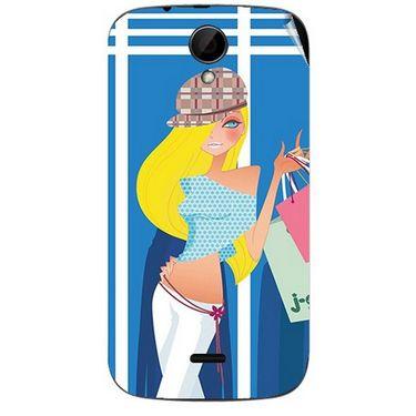Snooky 41970 Digital Print Mobile Skin Sticker For Intex Aqua i3 - Blue