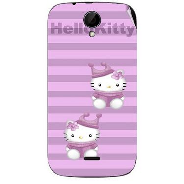 Snooky 41974 Digital Print Mobile Skin Sticker For Intex Aqua i3 - Pink