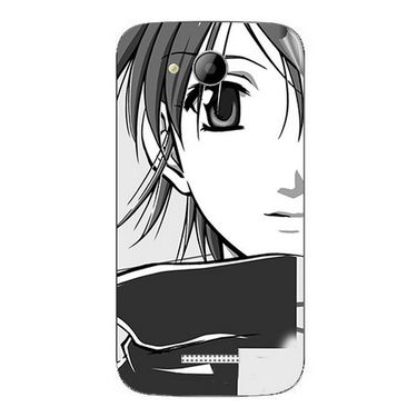 Snooky 41999 Digital Print Mobile Skin Sticker For Intex Aqua i5 - Grey