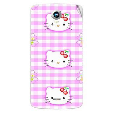 Snooky 42008 Digital Print Mobile Skin Sticker For Intex Aqua i6 - Pink