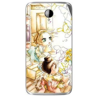 Snooky 42016 Digital Print Mobile Skin Sticker For Intex Aqua i14 - White
