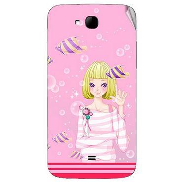 Snooky 42026 Digital Print Mobile Skin Sticker For Intex Aqua i15 - Pink