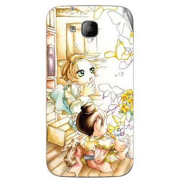 Snooky 42049 Digital Print Mobile Skin Sticker For Intex Aqua N2 - White