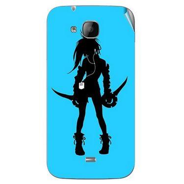 Snooky 42053 Digital Print Mobile Skin Sticker For Intex Aqua N2 - Blue