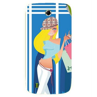Snooky 42058 Digital Print Mobile Skin Sticker For Intex Aqua N4 - Blue