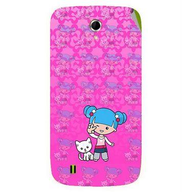 Snooky 42066 Digital Print Mobile Skin Sticker For Intex Aqua N4 - Pink
