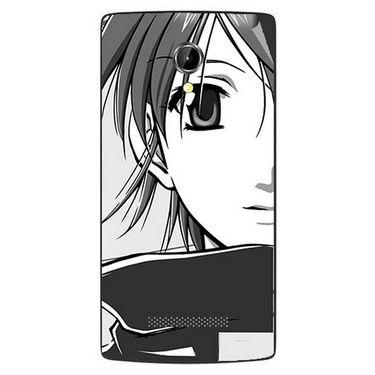 Snooky 42087 Digital Print Mobile Skin Sticker For Intex Aqua N8 - Grey