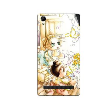 Snooky 42115 Digital Print Mobile Skin Sticker For Intex Aqua Power Plus - White
