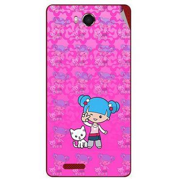Snooky 42187 Digital Print Mobile Skin Sticker For Intex Aqua Star Hd - Pink