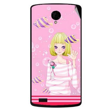 Snooky 42191 Digital Print Mobile Skin Sticker For Intex Aqua Star Power - Pink