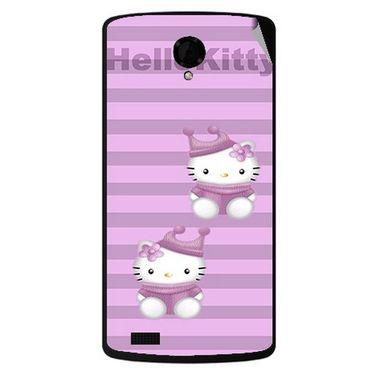 Snooky 42194 Digital Print Mobile Skin Sticker For Intex Aqua Star Power - Pink