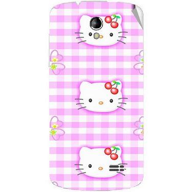 Snooky 42217 Digital Print Mobile Skin Sticker For Intex Aqua SUPERB - Pink