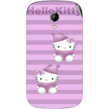Snooky 42227 Digital Print Mobile Skin Sticker For Intex Aqua T2 - Pink