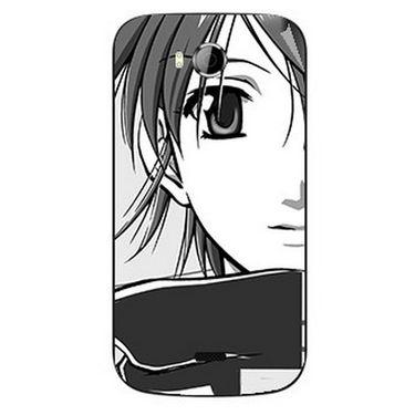 Snooky 42252 Digital Print Mobile Skin Sticker For Intex Aqua Wonder - Grey