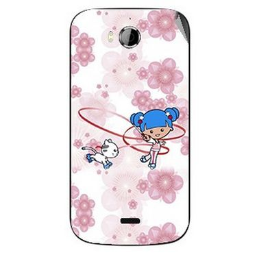 Snooky 42254 Digital Print Mobile Skin Sticker For Intex Aqua Wonder - White
