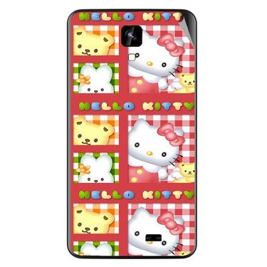Snooky 42270 Digital Print Mobile Skin Sticker For Intex Aqua Y2 IPS - Red