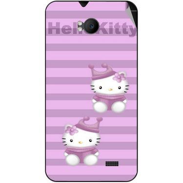 Snooky 42282 Digital Print Mobile Skin Sticker For Intex Aqua Y2 Remote - Pink
