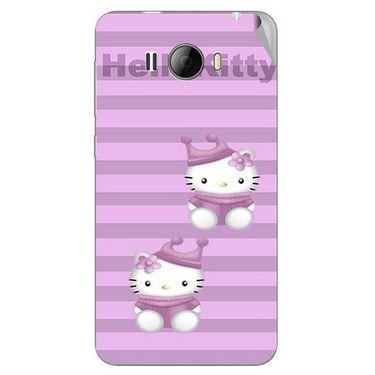 Snooky 42326 Digital Print Mobile Skin Sticker For Intex Aqua N15 - Pink