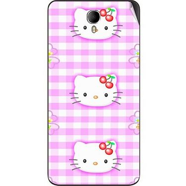 Snooky 42349 Digital Print Mobile Skin Sticker For Intex Cloud M6 - Pink