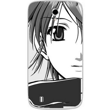 Snooky 42362 Digital Print Mobile Skin Sticker For Intex Cloud Y4 Plus - Grey