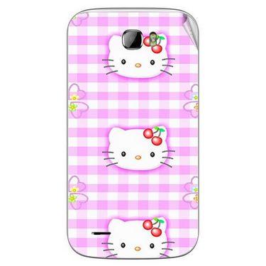 Snooky 42382 Digital Print Mobile Skin Sticker For Intex Cloud Z5 - Pink