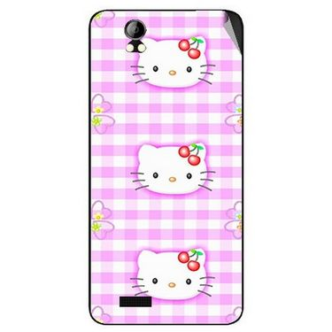 Snooky 42393 Digital Print Mobile Skin Sticker For Intex Aqua Style Pro - Pink