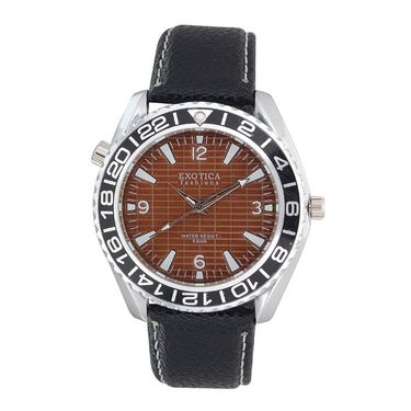 Exotica Fashions Analog Round Dial Watches_E14ls31 - Brown