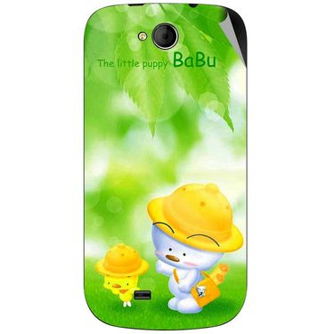 Snooky 46170 Digital Print Mobile Skin Sticker For Micromax Canvas Elanza A93 - Green