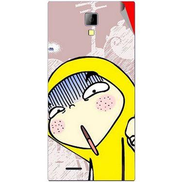 Snooky 46289 Digital Print Mobile Skin Sticker For Micromax Canvas Xpress A99 - Multicolour