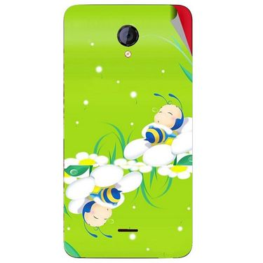 Snooky 46427 Digital Print Mobile Skin Sticker For Micromax Unite 2 A106 - Green