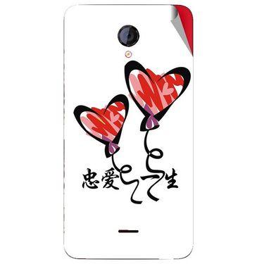 Snooky 46438 Digital Print Mobile Skin Sticker For Micromax Unite 2 A106 - White