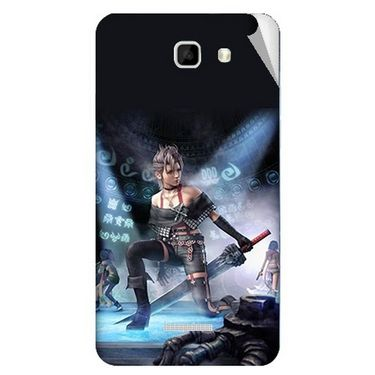 Snooky 46461 Digital Print Mobile Skin Sticker For Micromax Canvas Xl2 A109 - Blue