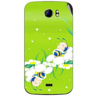 Snooky 46491 Digital Print Mobile Skin Sticker For Micromax Canvas 2 A110 - Green
