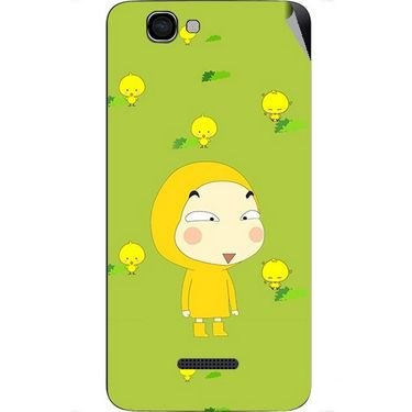 Snooky 46613 Digital Print Mobile Skin Sticker For Micromax Canvas 2 A120 - Green