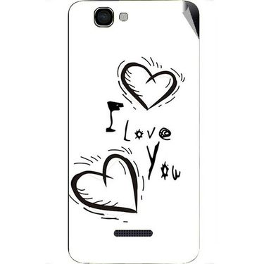 Snooky 46629 Digital Print Mobile Skin Sticker For Micromax Canvas 2 A120 - White