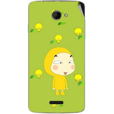 Snooky 46645 Digital Print Mobile Skin Sticker For Micromax Canvas Elanza 2 A121 - Green